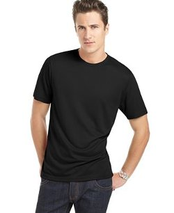Core Luxe Crew Neck T-Shirt by Perry Ellis in Begin Again