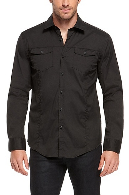 'Mirko' Slim Fit Button Down Shirt by Boss in The Flash - Season 2 Episode 2