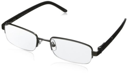 Men's Lyden Rectangular Reading Glasses by Foster Grant in Blackhat