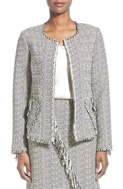 'Sydney' Fringe Tweed Jacket by Kobi Halperin in Scandal