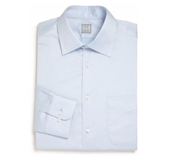 Regular-Fit Solid Dress Shirt by Ike Behar in Lethal Weapon
