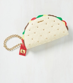 Taco the Town Clutch by Betsey Johnson in Fuller House