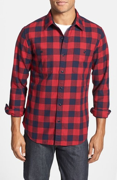 'Buffalo' Check Slim Fit Sport Shirt by Bonobos in If I Stay