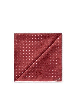 Contrast Polka Dot Silk Pocket Square by Lanvin in Furious 7
