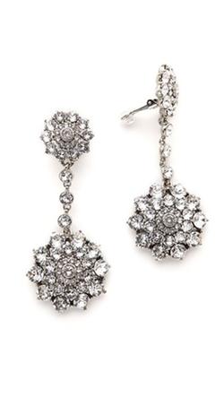 Classic Jeweled Drop Earrings by Oscar De La Renta in American Horror Story