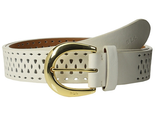 Perforated Leather Belt by Ralph Lauren in Masterminds