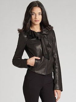 Ruffled Leather Jacket by Diane Von Furstenberg in Gossip Girl