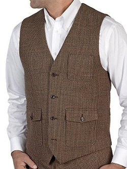 Men's Wool Flannel Glen Plaid Vest by Paul Fredrick in Night at the Museum: Secret of the Tomb