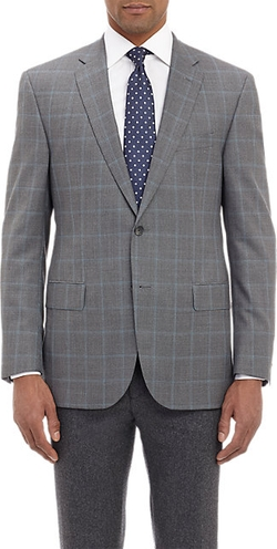 Check Two-Button Sportcoat by Barneys New York in The Blacklist