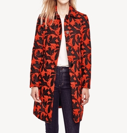 Vine Print Coat by Ann Taylor in Pitch Perfect 3