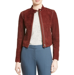 Bavewick Suede Jacket by Theory in Shadowhunters