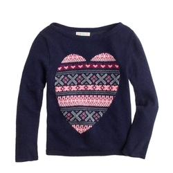Girls' Fair Isle Heart Sweater by J.Crew in Modern Family