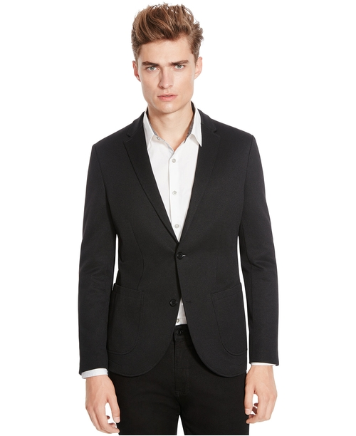 Textured Ponte Blazer by Kenneth Cole New York in Elementary