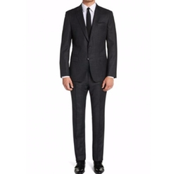 Virgin Wool Silk Suit by Boss Hugo Boss in Arrow
