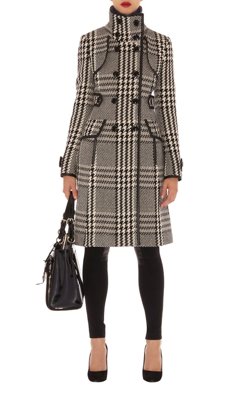 Statement Check Coat by Karen Millen in Addicted