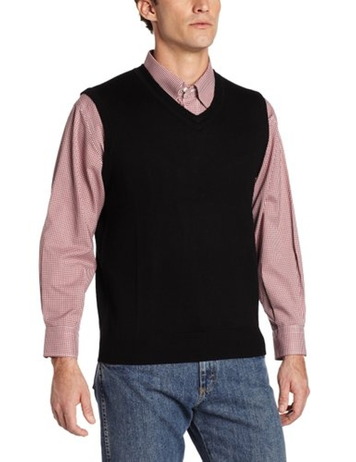 Men's Merino Wool Vest by Raffi Linea Uomo in (500) Days of Summer