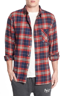 Stuff Long Sleeve Plaid Button-Up Shirt by Poler in Modern Family