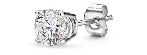 Round Single Diamond Stud Earring by Parikhs in Get Hard