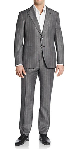 Wool & Linen Two-Button Suit by Isaia in Vinyl