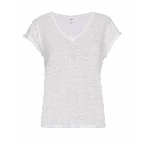 Romana Linen T-Shirt by Velvet by Graham & Spencer in Chelsea - Season 1 Episode 4