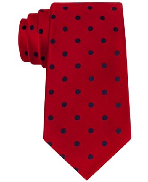 Sloane Dot Slim Tie by Cromwell & Sons in Entourage
