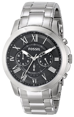 Men's Grant Stainless Steel Watch by Fossil in Entourage