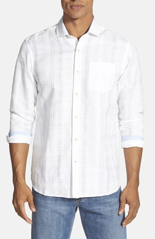 Plaid Cotton Sport Shirt by Tommy Bahama in Self/Less