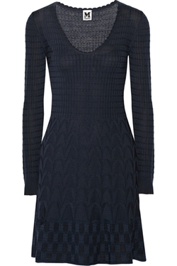 Crochet-Knit Wool-Blend Dress by M Missoni in Quantico