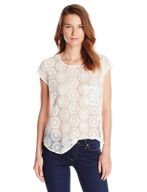 Women's Dalliance Geometric Mesh Blouse by Joie in Pretty Little Liars