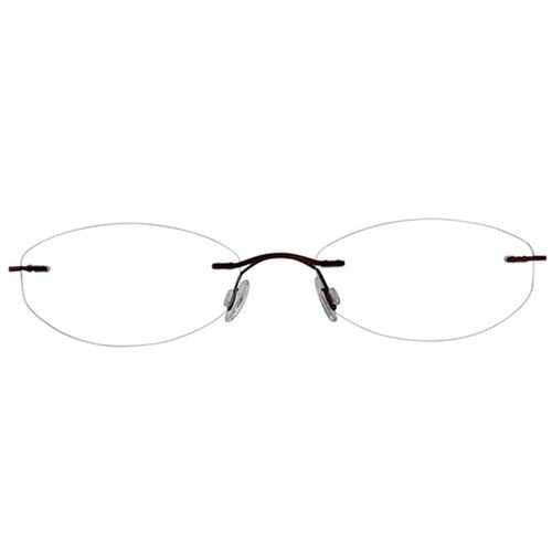Rimless Oval Reading Glasses by EyeBuyExpress in Speechless