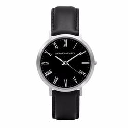 Leather Strap Crosby Watch by Leonard & Church in American Assassin