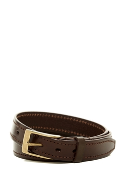 Edge Stitch Leather Belt by John Varvatos Collection in Modern Family