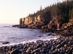 Bar Harbor, Maine by Otter Cliff, Acadia National Park in Shutter Island