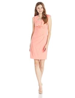Women's Rouched Sheath Dress by Calvin Klein in Scream Queens