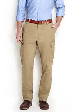 Men's Traditional Fit Cargo Pants by Land's End in The Flash
