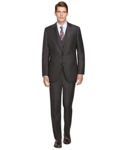 Regent Fit Three-Piece Saxxon Wool Plaid 1818 Suit by Brooks Brothers in Billions
