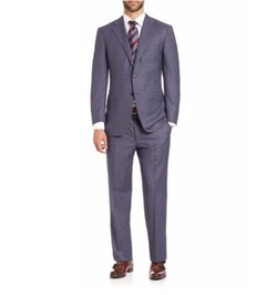 Textured Wool Suit by Canali in Arrow