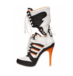130mm JS High Heel Leather Boots by Adidas By Jeremy Scott in Suicide Squad