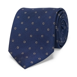 Silk Dotted Circle Tie by Club Monaco in Bridge of Spies