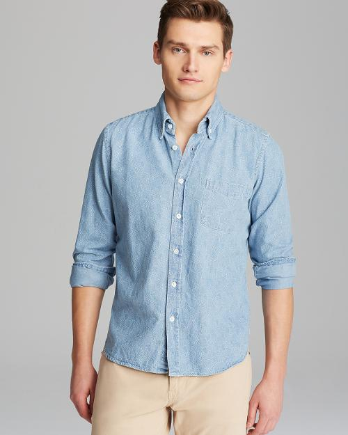 Collegiate Chambray Sport Shirt by Steven Alan in X-Men: Days of Future Past