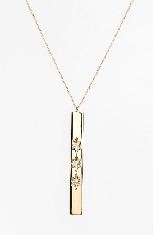 'Heroine' Diamond Bar Necklace by Kismet By Milka in Entourage