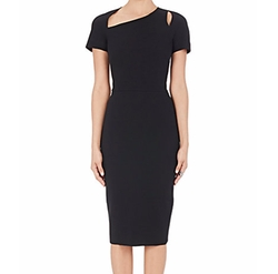 Matte Crepe Fitted Sheath Dress by Victoria Beckham in Suits