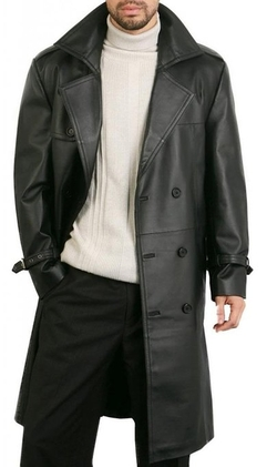 Classic Leather Trench Coat by DashX in Suicide Squad