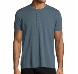 Short-Sleeve Slub Henley T-Shirt by Vince in Jane the Virgin