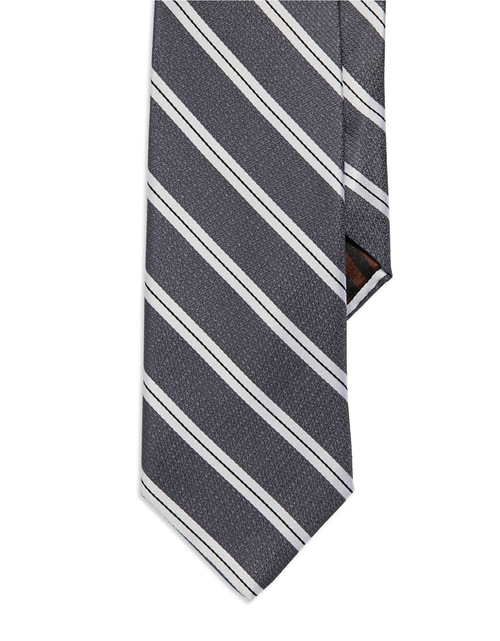Striped Silk Tie by Black Brown 1826 in Daddy's Home