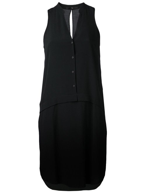 Sleeveless Shirt Dress by Tibi in That Awkward Moment