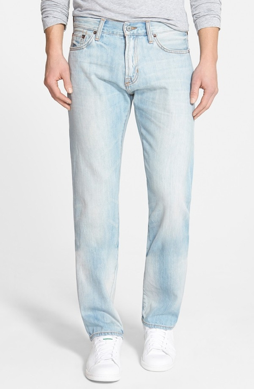 'Rocker' Straight Leg Selvedge Jeans by Jean Shop in Rock The Kasbah