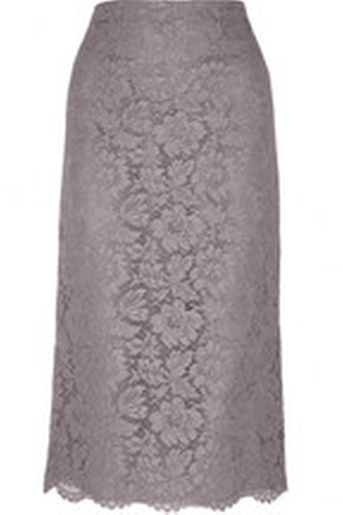 Lace And Silk-Organza Midi Skirt by Valentino in Suits