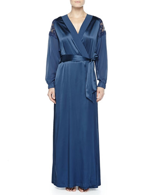 Ricamato Lace-Tulle Satin Robe by La Perla in How To Get Away With Murder