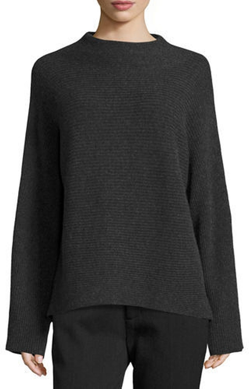 Ribbed Wool-Cashmere Funnel-Neck Sweater by Vince in Keeping Up With The Kardashians - Season 12 Episode 11